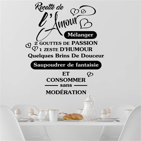 citation cuisine amour sticker citation recette de l 39 amour stickers citations