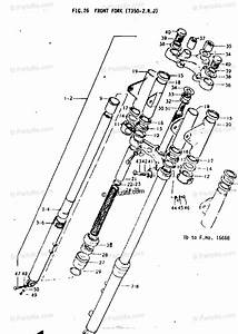 Suzuki Motorcycle 1972 Oem Parts Diagram For Front Fork