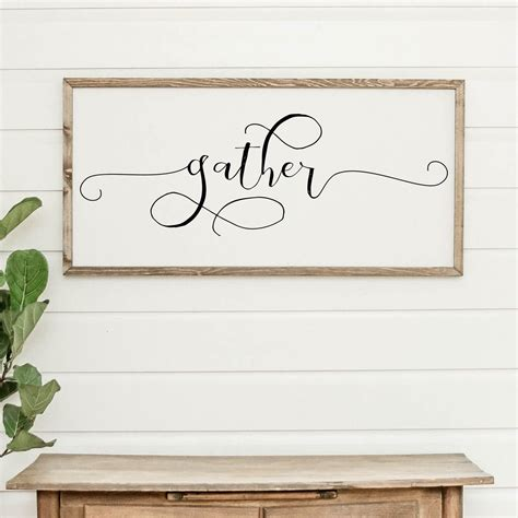 Admin, 4 days ago 0 5 min read. Gather | Dining room wall art, Holiday signs, Hanging canvas