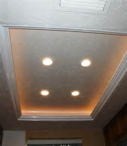 recessed lighting in kitchens ideas another tray ceiling recessed lighting idea to replace the fluorescent kitchen lights remodel