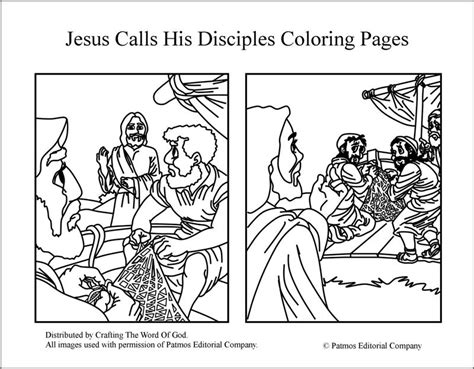 jesus calls  disciples coloring pages crafting  word  god