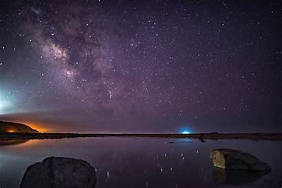 Sky Starry Night Purple Stars Galaxy