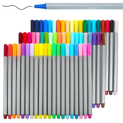 magicfly  colors colored fineliner  set mm fine