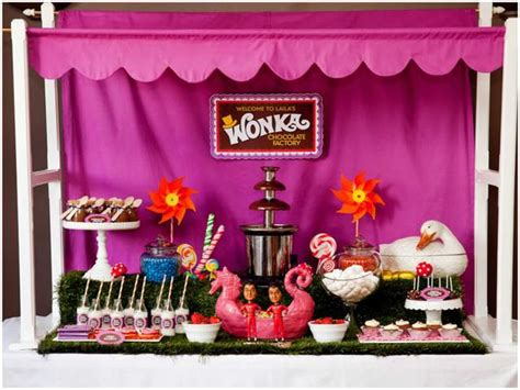 Colorful Willy Wonka Birthday Party! Pizzazzerie