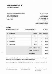 Rechnung Gemeinnütziger Verein Muster : rechnungsvorlage f r verein rechnung schreiben ~ Themetempest.com Abrechnung