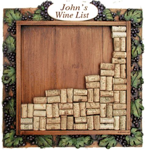 Wines Cork Holder Wall Frame Decoration by Personalized Wine Cork Frame Wine Cork Wall Decor