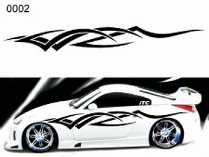 tribal style 02 vinyl vehicle graphic kit With automobile lettering graphics