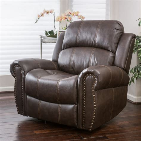 leather glider recliner with harbor brown leather glider recliner club chair great