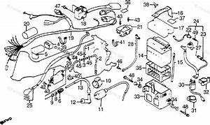 Honda Atv 1984 Oem Parts Diagram For Wire Harness    Coil    Battery