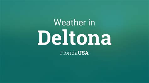 weather  deltona florida usa