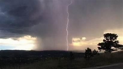 Lightning Supercell Dakota Rapid South Weather Still