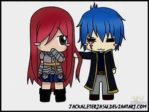 Fairy Tail Erza And Jellal Chibi by JackalEteriasu on ...