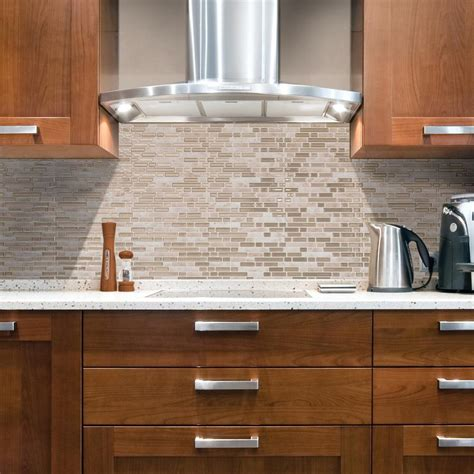 decorative kitchen backsplash tiles smart tiles bellagio sabbia approximately 3 in w x 3 in