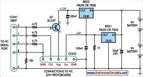 build simple universal pic programmer circuit diagram