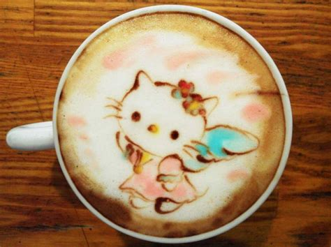 colorful latte art  japan  awesome  drink