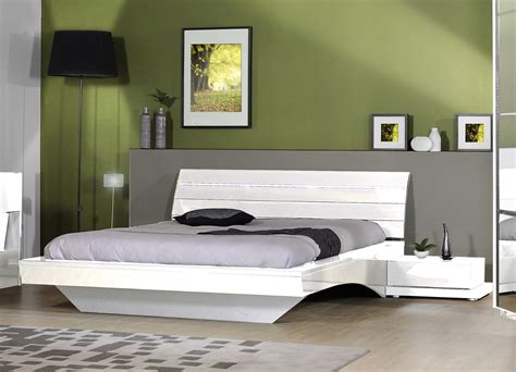 le de chevet chambre adulte chevet design 1 tiroir laqué blanc largo chevet