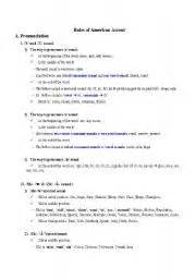 worksheet american accent