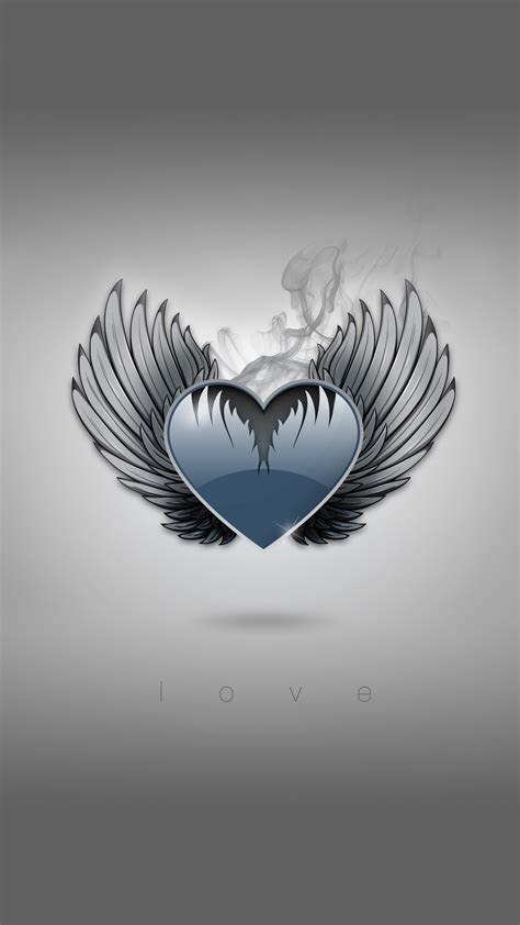 1920 X 1080 Pictures Heart With Wings Iphone Wallpaper
