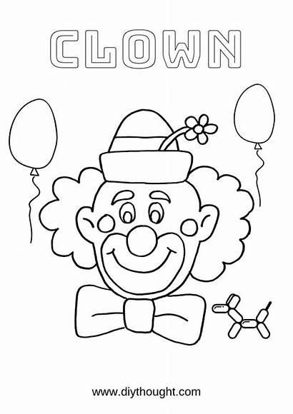 Clown Fun Coloring Printables Pages Diy Cool