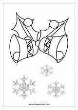 Coloring Christmas Jingle Bells Pages Sheets Printable Template Bell Sheet Megaworkbook Sleigh Sketch Dashing Snow Through Templates Instrument Reindeer sketch template