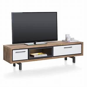 Meuble Tv 170 Cm : otta meuble tv 1 tiroir 1 porte rabattante 1 niche ~ Teatrodelosmanantiales.com Idées de Décoration