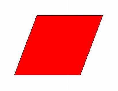 Rhombus Shapes Parallelogram Clip Clipart Shape Cliparts