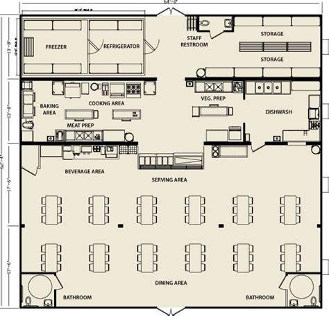 modular building cafeteria facilities floorplan