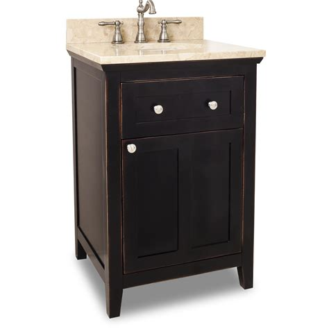 24 quot bathroom vanity with light marble top and optional