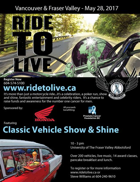 2017 Ride To Live  May 28 Fvn