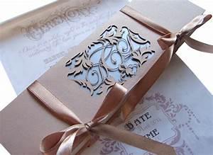 fairytale scroll wedding invitation in a personalised box With laser cut wedding invitations durban