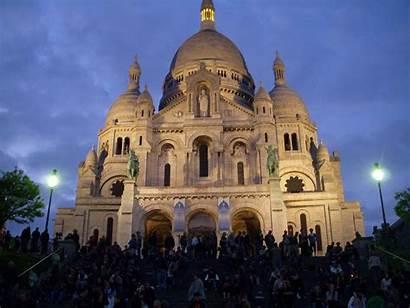 France Paris Architecture Sacre Coeur Night 1341