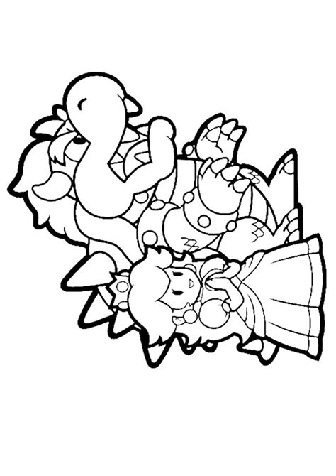 princess peach  dragon coloring page  printable coloring pages  kids