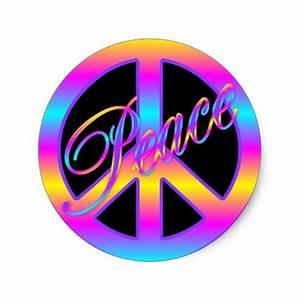 Colorful Peace Sign Stickers | Zazzle