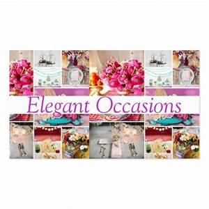 Catering party service decorations occasions business card for Party decorator business cards