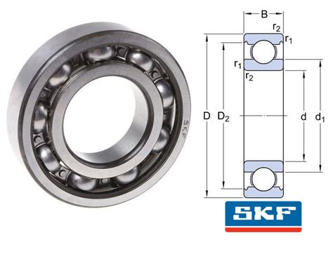 6228/c3 Skf Open Deep Groove Ball Bearing 140x250x42mm Skf