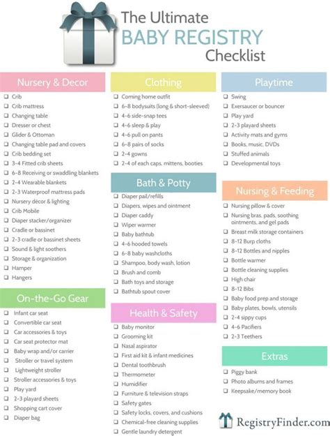 Baby Gifts For Baby Shower List - ultimate baby registry checklist baby p s