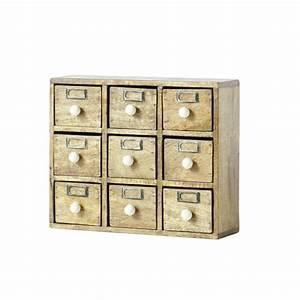 Boite De Rangement Maison Du Monde : bo te de rangement 9 tiroirs ugolin maisons du monde ~ Preciouscoupons.com Idées de Décoration