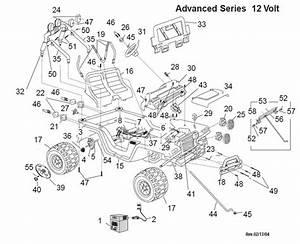 Power Wheels Jeep Wrangler Restage Parts