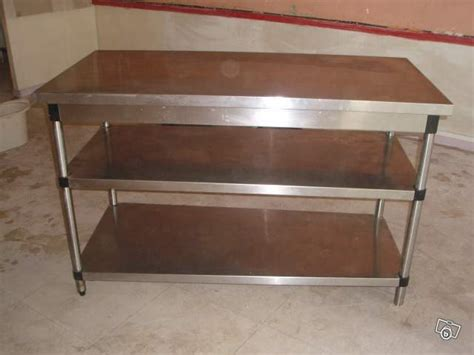 table de cuisine inox table de cuisine en inox occasion