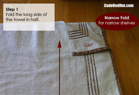 how to fold towels how to fold towels to fit any shelf code red hat