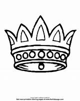 Crown Pages Coloring Colouring Printable Sheets Bible Template Crowns King Queen Thekidzpage Printables تاج Crafts Israel Kingdom sketch template