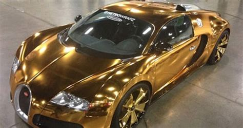 Wolfgang schreiber, president of bugatti automobiles s.a.s.: Car Information: Car Information Bugatti Veyron shiny gold plating of rapper