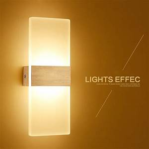 Modern, Led, Wall, Light, Up, Down, Cube, Indoor, Outdoor, Sconce, Lighting, Lamp, Fixture, 2017, New
