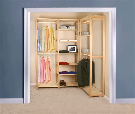 simple closet home of easy to install affordable wood