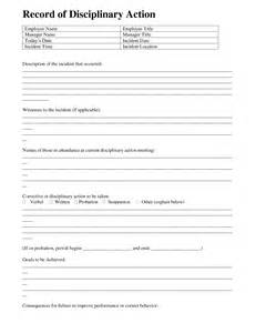 Employee Disciplinary Action Form Template