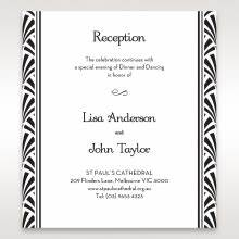 gatsby style foil stamped marriage invite black white gold With foil stamped wedding invitations uk