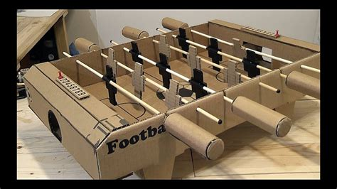 make cardboard foosball table wow amazing diy how to make a football tables soccer