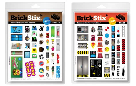 Brickstix Are Decals For Jazzing Up Your Lego Creations