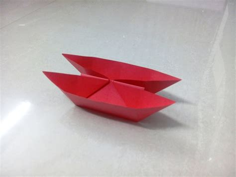 Paper Folding Of Boat by How To Make An Origami Paper Boat 5 Origami Paper