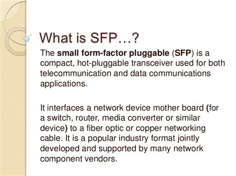 what is sfp difference between xfp sfp